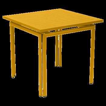 שולחן אוכל ריבועי לגינה בצבע כתום