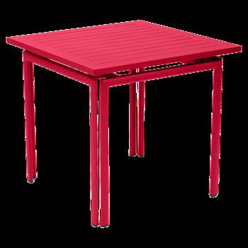 שולחן אוכל ריבועי לגינה בצבע ורוד FUCHSIA