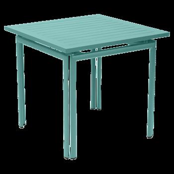 שולחן אוכל ריבועי לגינה בצבע תכלת