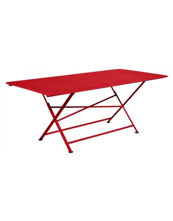 שולחן אוכל לגינה Cargo אדום