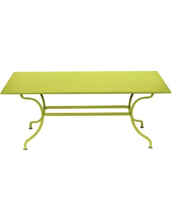 שולחן אוכל מלבני לגינה Romane צהוב