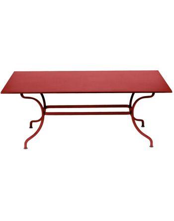 שולחן אוכל מלבני לגינה Romane אדום