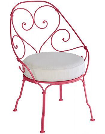 כסא לגינה 1900 ורוד