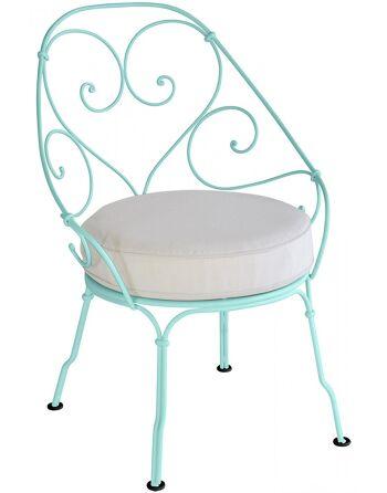 כסא לגינה 1900 תכלת