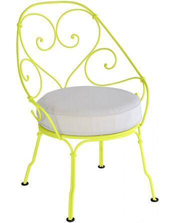 כסא לגינה 1900 צהוב