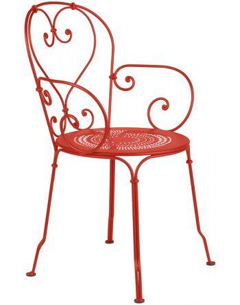 כסא אוכל לגינה אדום