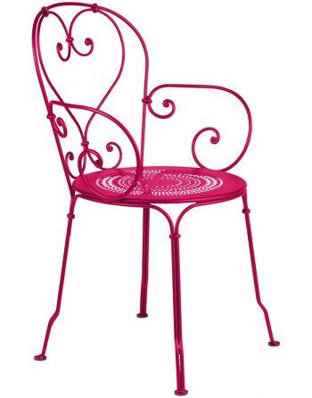 כסא אוכל ורוד לגינה