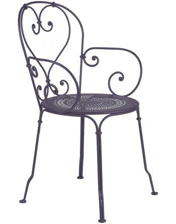 כסא אוכל לגינה אפור