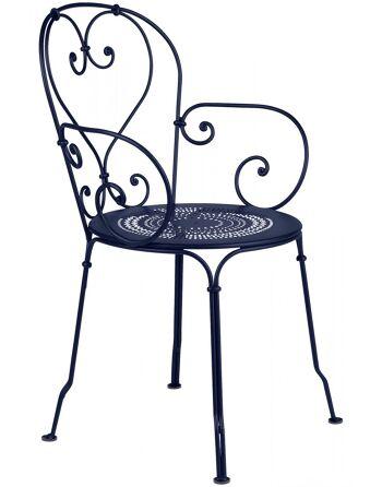 כסא אוכל לגינה כחול
