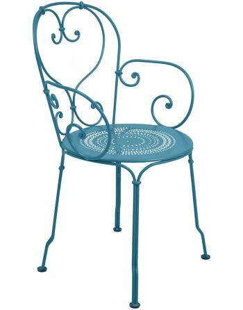 כסא אוכל לגינה טורקיז