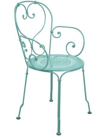 כסא אוכל לגינה תכלת