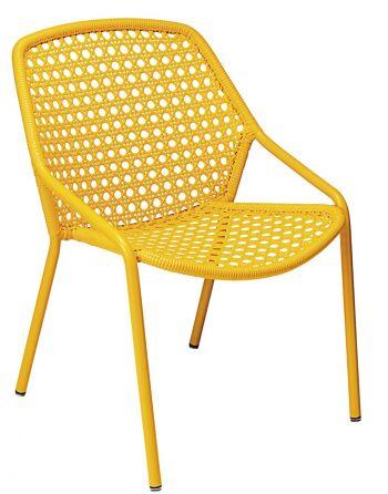 כסא לגינה Croisette צהוב