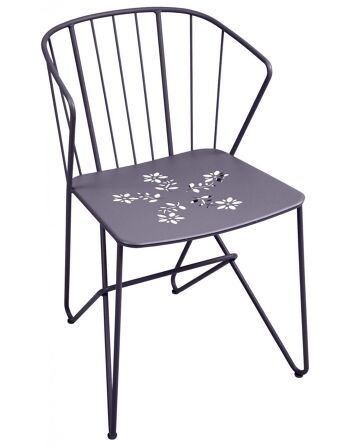 כסא אוכל לגינה Flower אפור