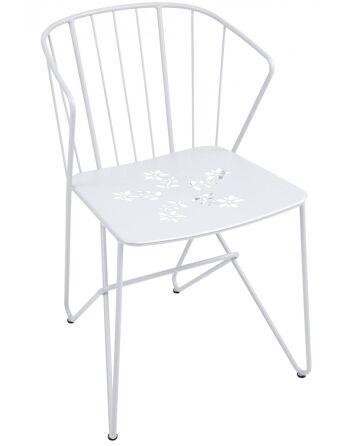 כסא אוכל לגינה Flower לבן