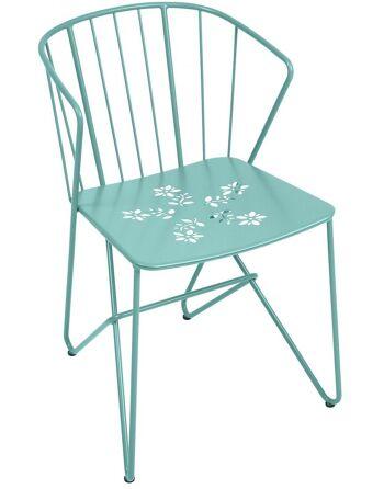 כסא אוכל לגינה Flower תכלת