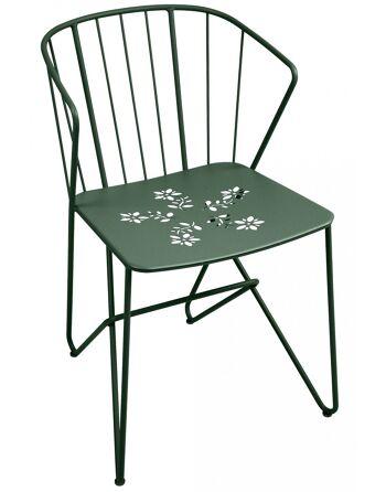 כסא אוכל לגינה Flower ירוק