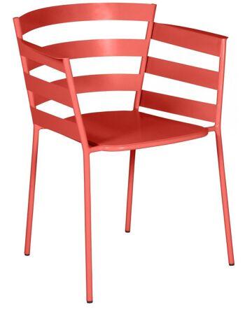 כסא אוכל לגינה Rythmic אדום