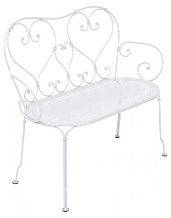 כסא זוגי לגינה 1900 לבן