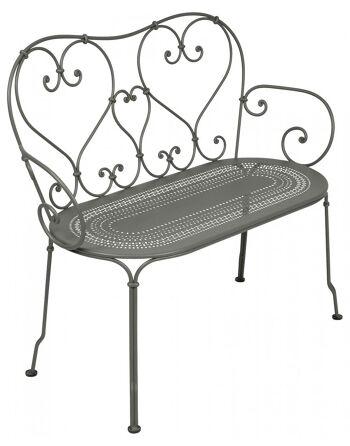 כסא זוגי לגינה 1900 אפור