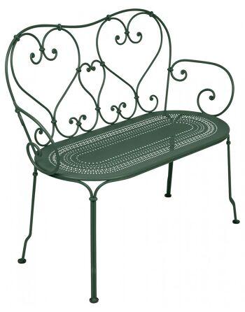 כסא זוגי לגינה 1900 ירוק