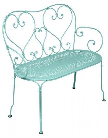 כסא זוגי לגינה 1900 תכלת