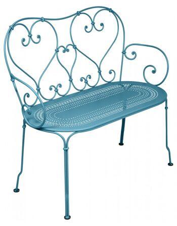 כסא זוגי לגינה 1900 טורקיז