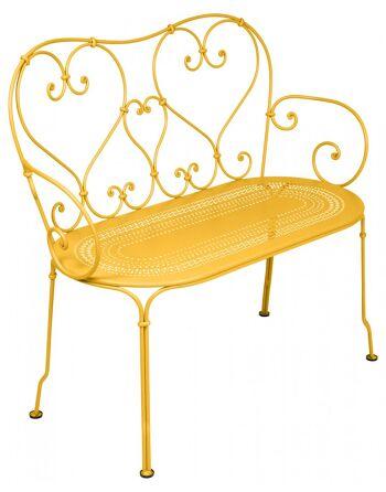 כסא זוגי לגינה 1900 צהוב