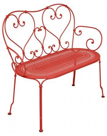 כסא זוגי לגינה 1900 אדום