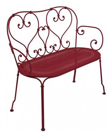 כסא זוגי לגינה 1900 בורדו