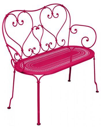 כסא זוגי לגינה 1900 ורוד