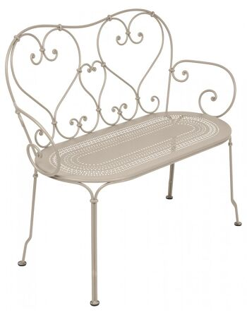 כסא זוגי לגינה 1900 בז'