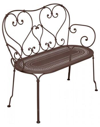 כסא זוגי לגינה 1900 חום
