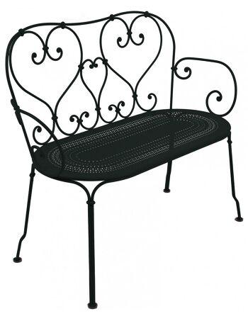 כסא זוגי לגינה 1900 שחור
