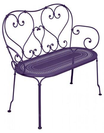 כסא זוגי לגינה 1900 סגול