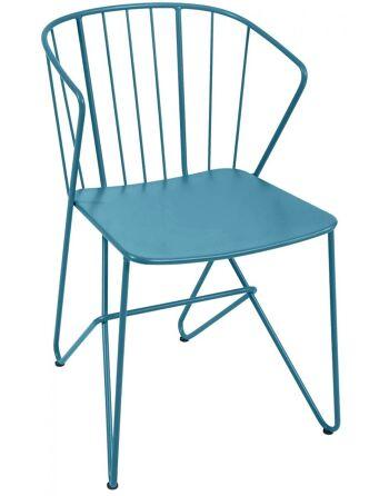 כסא אוכל לגינה Flower טורקיז