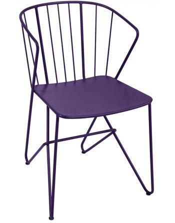 כסא אוכל לגינה Flower סגול