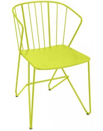 כסא אוכל לגינה Flower צהוב