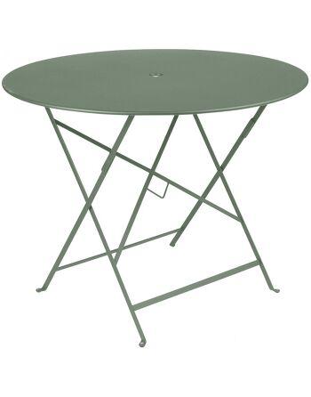 שולחן אוכל עגול מתקפל לגינה ירוק חאקי
