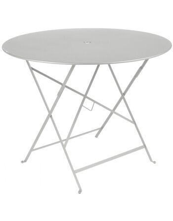 שולחן אוכל עגול מתקפל לגינה אפור