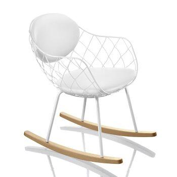 כסא נדנדה Pina לבן
