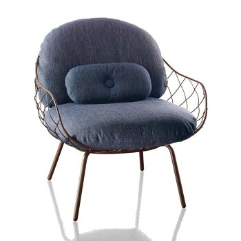 כורסא Pina כחולה