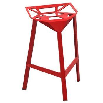 כסא בר One אדום