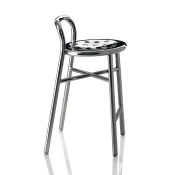 כסא בר Pipe כסוף