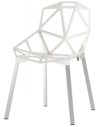 כסא One מושב לבן