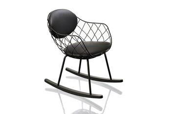 כסא נדנדה Pina שחור