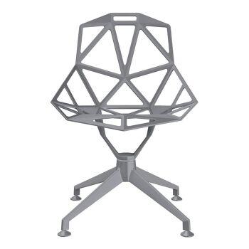 כסא One רגל מרכזית אפור