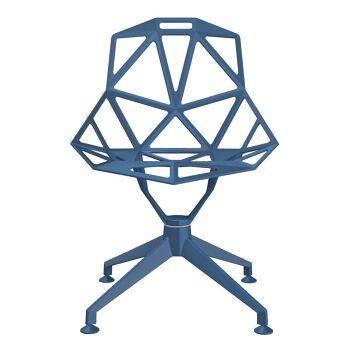 כסא One רגל מרכזית כחול