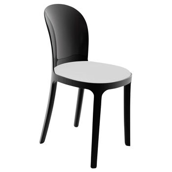 כסא vanity שחור לבן