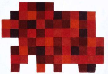 שטיח פיקסלים אדום DO-LO-REZ