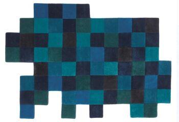 שטיח פיקסלים כחול FDO-LO-REZ